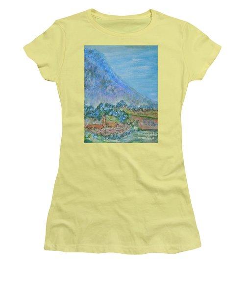 Skyline Drive Begins Women's T-Shirt (Junior Cut) by Judith Espinoza