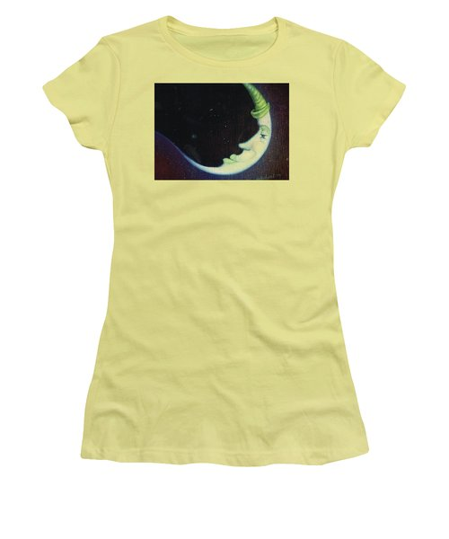 Sleepy Moon's Twin Brother Women's T-Shirt (Athletic Fit)