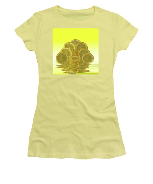 Slices Lemon Citrus Fruit Women's T-Shirt (Athletic Fit)