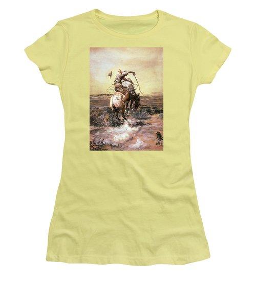 Slick Rider Women's T-Shirt (Junior Cut) by Charles Russell