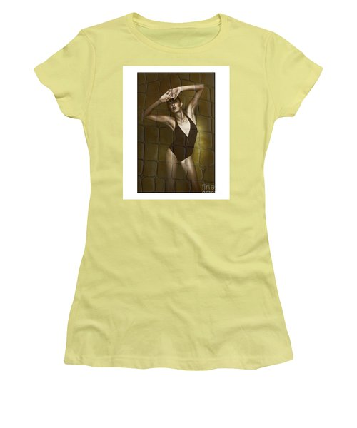 Slim Girl In Bathing Suit Women's T-Shirt (Junior Cut) by Michael Edwards