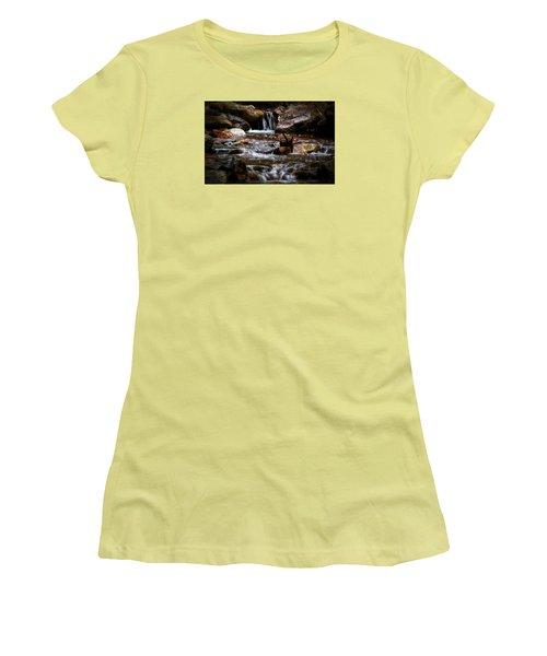 Small Falls Women's T-Shirt (Junior Cut) by Elaine Malott