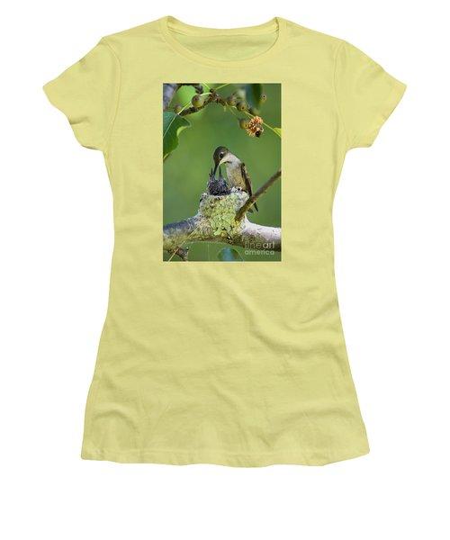 Women's T-Shirt (Junior Cut) featuring the photograph Small Family - D009336 by Daniel Dempster