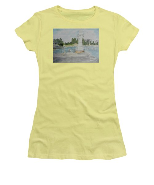 Small Lighthouse One Belmore Basin Women's T-Shirt (Athletic Fit)