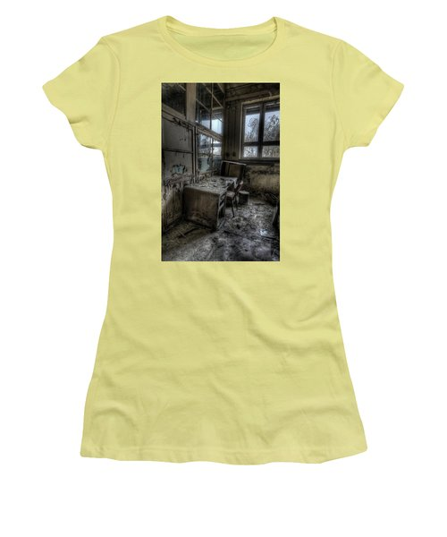 Women's T-Shirt (Junior Cut) featuring the digital art Small Office by Nathan Wright