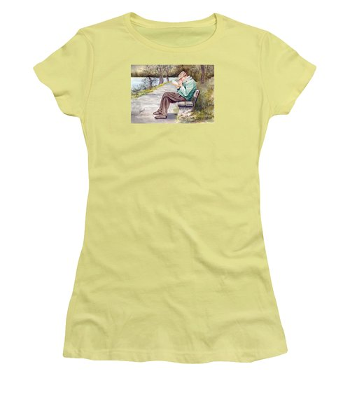 Small Print Women's T-Shirt (Junior Cut) by Sam Sidders