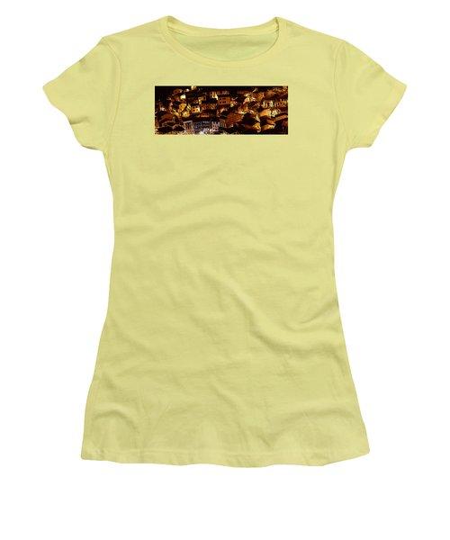 Small Village Women's T-Shirt (Junior Cut) by Thomas M Pikolin