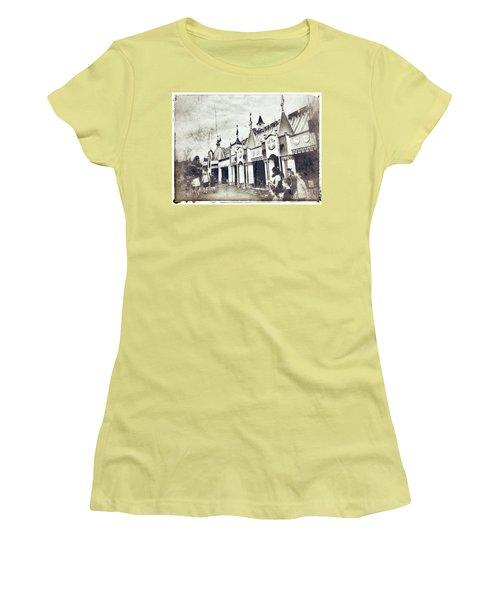 Small World Women's T-Shirt (Junior Cut) by Jason Nicholas