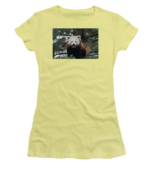 Smiling Red Panda #2 Women's T-Shirt (Athletic Fit)