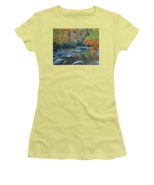 Smokey Mountain Autumn Women's T-Shirt (Junior Cut) by Stanton Allaben