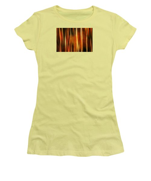 Smoky Mountains Fall Colors Digital Abstracts Motion Blur Women's T-Shirt (Junior Cut) by Rich Franco