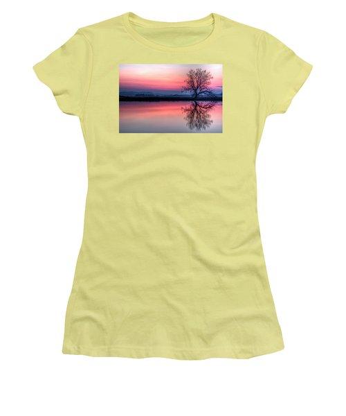 Smoky Sunrise Women's T-Shirt (Junior Cut) by Fiskr Larsen