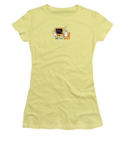 Women's T-Shirt (Junior Cut) featuring the digital art Smore School Illustrated by Heather Applegate