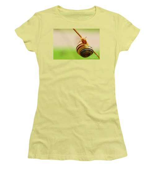Snail  Women's T-Shirt (Junior Cut) by Joe  Ng
