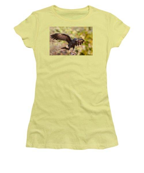 Snail Kite With Crab In Pantanal Women's T-Shirt (Junior Cut) by Aivar Mikko