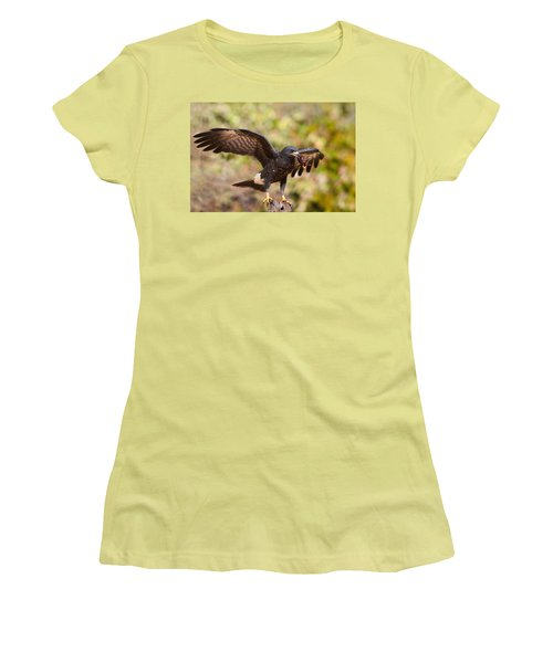 Snail Kite With Crab In Pantanal Women's T-Shirt (Athletic Fit)
