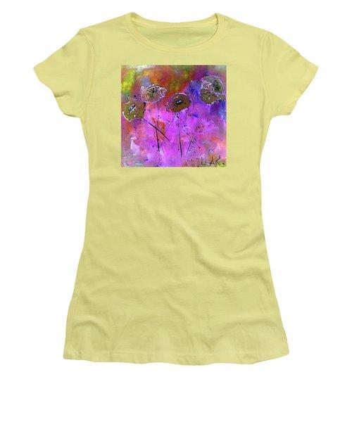 Snow Flowers Women's T-Shirt (Athletic Fit)