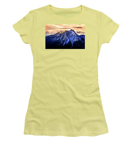 Women's T-Shirt (Athletic Fit) featuring the photograph Mount Cascade by John Poon