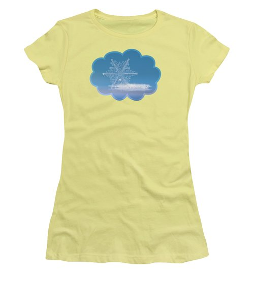 Snowflake Photo - Cloud Number Nine Women's T-Shirt (Athletic Fit)
