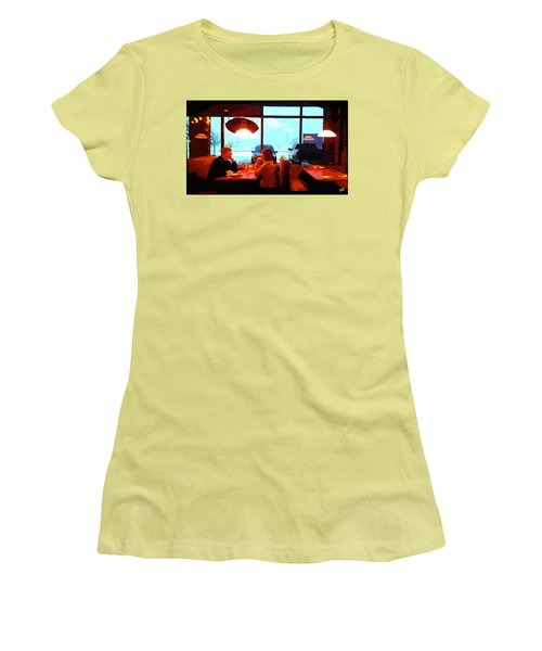 Snowy Date Women's T-Shirt (Athletic Fit)