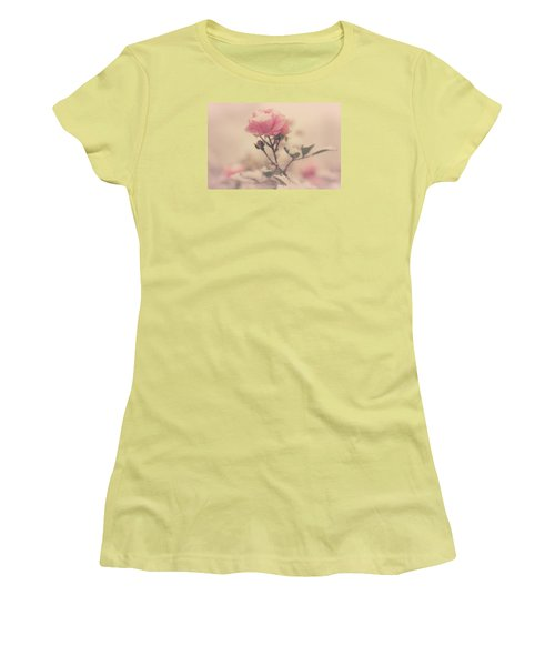 Snowy Day Of Roses Women's T-Shirt (Junior Cut) by The Art Of Marilyn Ridoutt-Greene