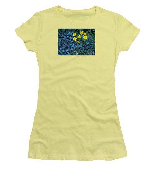 Snowy Goldeneye-#3094 Women's T-Shirt (Athletic Fit)