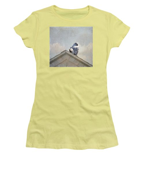 Snowy Owl  Women's T-Shirt (Athletic Fit)
