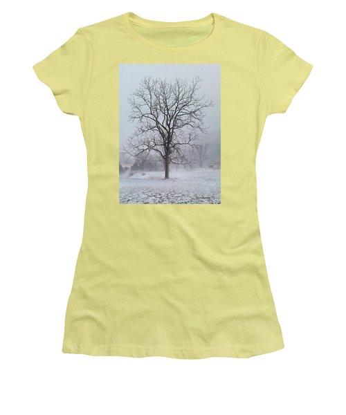 Snowy Walnut Women's T-Shirt (Junior Cut) by Denise Romano