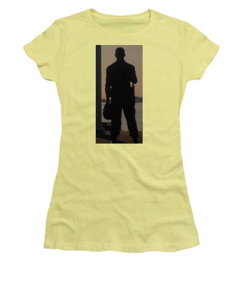Women's T-Shirt (Junior Cut) featuring the photograph So Help Me God by John Glass