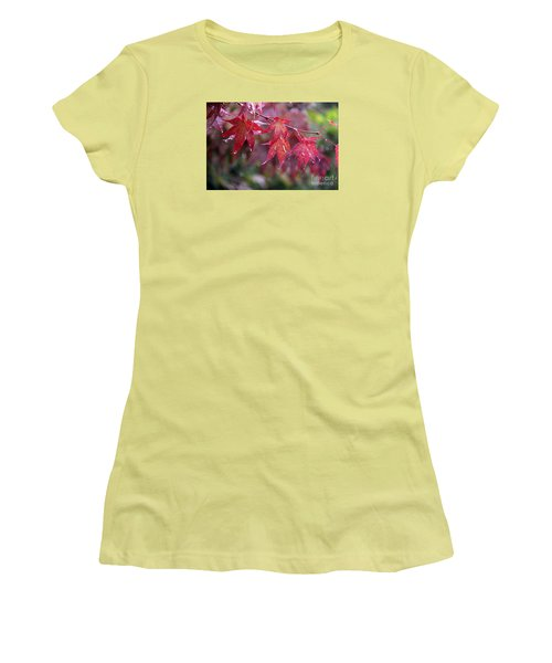 Women's T-Shirt (Junior Cut) featuring the photograph Soaked by Yumi Johnson