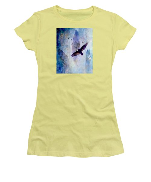 Women's T-Shirt (Junior Cut) featuring the digital art Soaring by Lisa Noneman