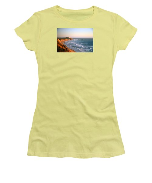 Women's T-Shirt (Athletic Fit) featuring the photograph Socal Sunset Ocean Front by Clayton Bruster