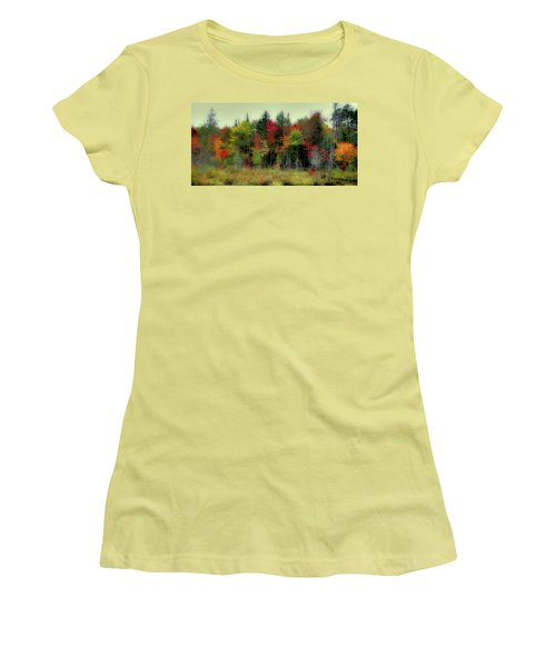Women's T-Shirt (Athletic Fit) featuring the photograph Soft Autumn Panorama by David Patterson