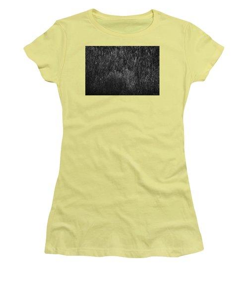 Soft Grass Black And White Women's T-Shirt (Junior Cut) by Glenn Gemmell
