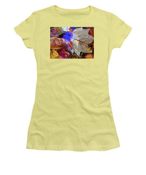 Soft Light Leaves Women's T-Shirt (Athletic Fit)