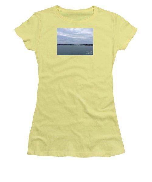 Soft Start, Winter Sunrise Women's T-Shirt (Junior Cut) by Patricia E Sundik