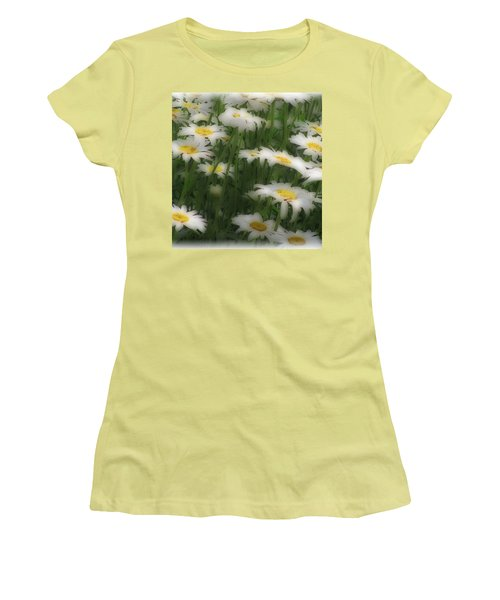 Women's T-Shirt (Junior Cut) featuring the photograph Soft Touch Daisy by Debra     Vatalaro