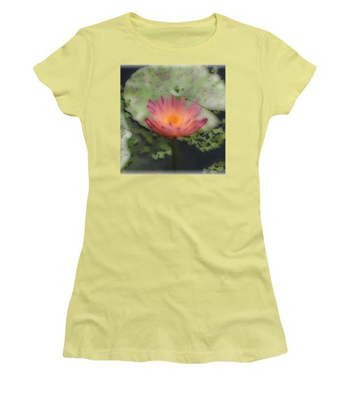 Women's T-Shirt (Junior Cut) featuring the photograph Soft Touch Lily by Debra     Vatalaro