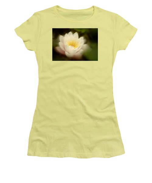 Women's T-Shirt (Junior Cut) featuring the photograph Soft Water Lily by Richard Cummings
