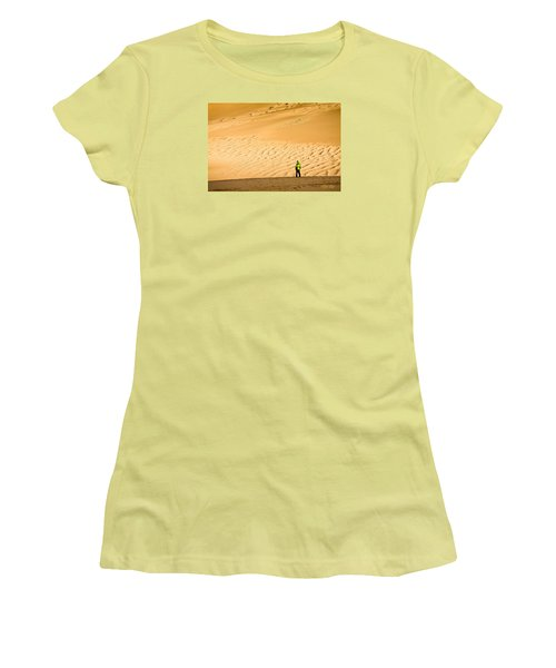 Women's T-Shirt (Junior Cut) featuring the photograph Solitude In The Dunes by Rikk Flohr
