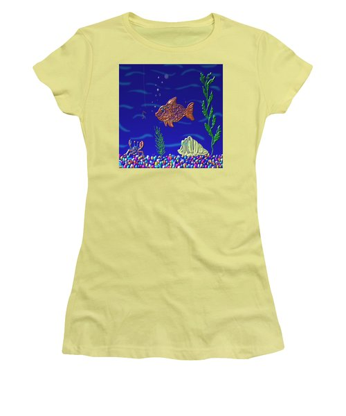 Something Fishy Women's T-Shirt (Athletic Fit)