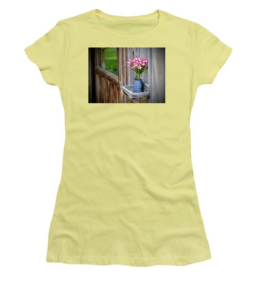 Women's T-Shirt (Athletic Fit) featuring the photograph Something Old Something New by AJ Schibig