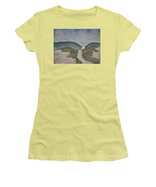 Women's T-Shirt (Junior Cut) featuring the painting Somewhere In Florida by Antonio Romero