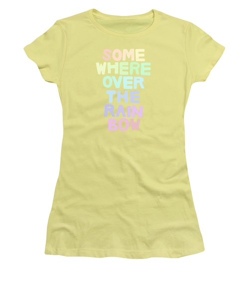 Somewhere Over The Rainbow Women's T-Shirt (Junior Cut) by Priscilla Wolfe