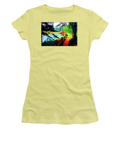 Song Of The Morning Camp Women's T-Shirt (Athletic Fit)