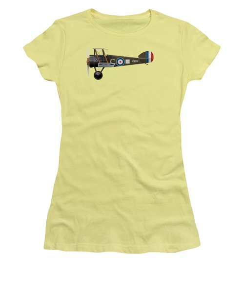Sopwith Camel - B6344 - Side Profile View Women's T-Shirt (Junior Cut) by Ed Jackson
