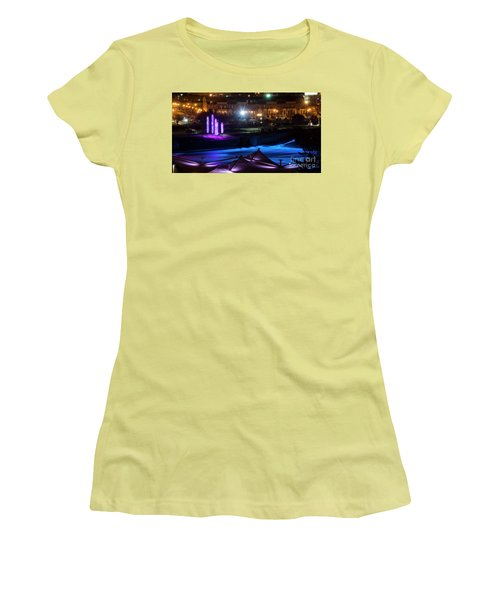 South Bend River Night Women's T-Shirt (Athletic Fit)