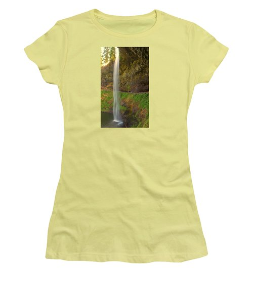Women's T-Shirt (Junior Cut) featuring the photograph South Falls 0448 by Tom Kelly