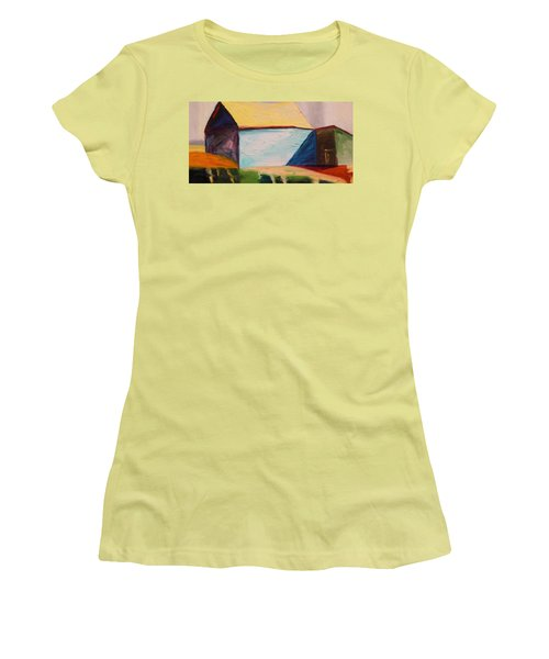 Women's T-Shirt (Junior Cut) featuring the painting Southern Barn by John Williams