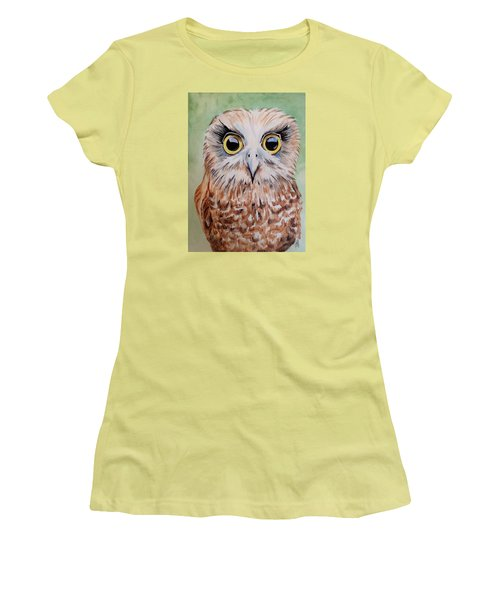 Southern Boobook Owl Women's T-Shirt (Athletic Fit)